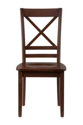 Jofran 452806KD Simplicity Series Casual Wood Frame Dining Room Chair
