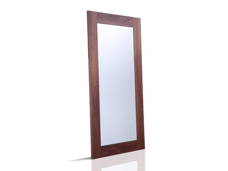 """Casabianca View Collection 79"""" x 39"""" Floor Mirror with Rectangular Shape and Medium-Density Fiberboard (MDF) in"""