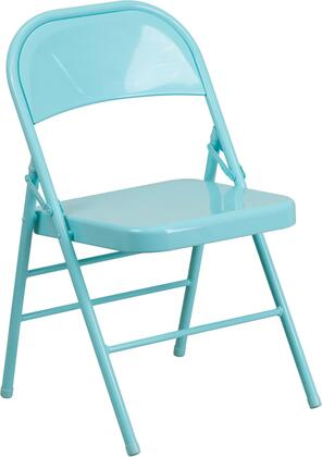 """Flash Furniture Hercules 30.5"""" Folding Chair with 18 Gauge Steel Triple Braced Frame, Double Hinged, Non-Marring Glides and Metal Construction in"""