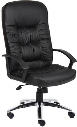 "Boss B730 46"" High Back Executive Chair with  Lumbar Support, Extra Thick Seat and Back Cushion, Adjustable Tilt Tension Control, Upright Locking Control, and  Durable Polypropylene Armrests in Black LeatherPlus Upholstery"