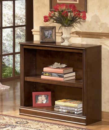 Signature Design by Ashley Hamlyn H527-1X X Bookcase with Adjustable Shelves, Select Hardwoods and Cherry Veneer Construction and Decorative Mouldings in Medium Brown Finish