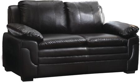 Glory Furniture G283L Faux Leather Stationary with Wood Frame Loveseat