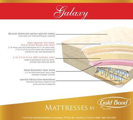 Gold Bond 869GALAXYK Natural Latex Series King Size Standard Mattress
