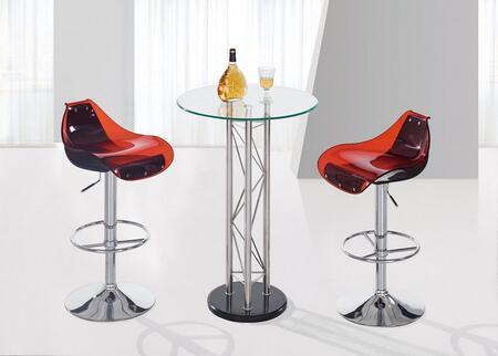 Global Furniture USA M208BTM250BSRBL3PCSET M208 Bar Tables