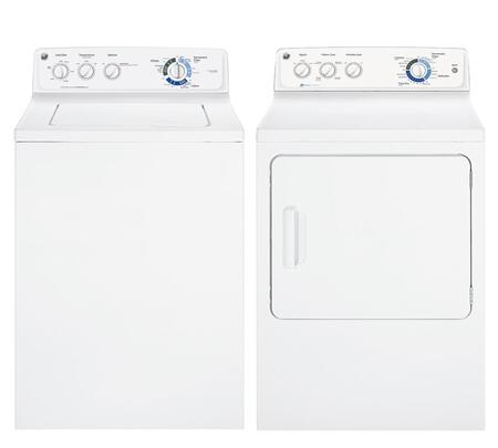 GE GCWN2800DWWPAIR2 Washer and Dryer Combos