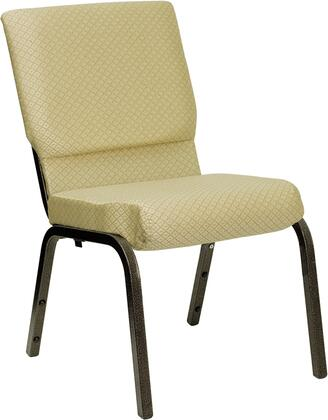 "Flash Furniture HERCULES Series XU-CH-60096-XX-GG 18.5"" Wide Stacking Church Chair with 4.25"" Thick Seat, 16 Gauge Steel Frame, Plastic Rocker Glides, and Gold Vein Frame"