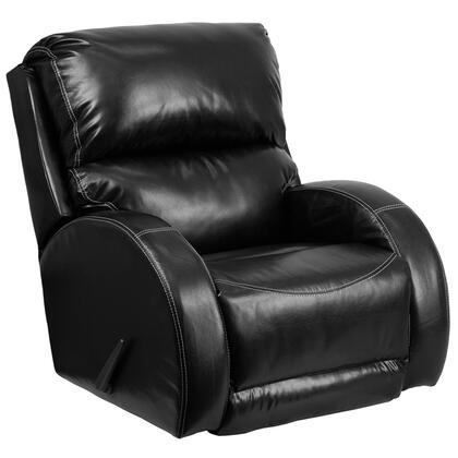 Flash Furniture WA4990622GG Contemporary Leather Wood and Metal Frame  Recliners