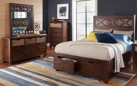 Jofran 1603QPBDM Painted Canyon Queen Bedroom Sets