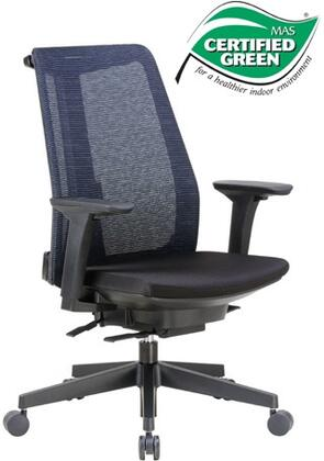 """Boss B6990 38"""" Contemporary Executive Chair with Unique Design, Mesh Fabric Seat and Back, Adjustable Height Arms, Seat Slider, 27"""" Nylon Base and Heavy Duty Casters in Black"""