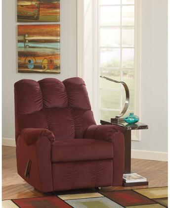"""Flash Furniture Signature Design by Ashley Raulo 35"""" Rocker Recliner with Plush Pillow Back, Rocker Feature, Lever Recliner and Fabric Upholstery in"""