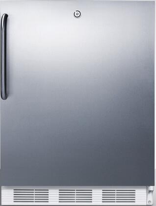 """AccuCold FF7LBI 24"""" FF7BIADA Series ADA Compliant Medical, Commercially Approved Freestanding or Built In Compact Refrigerator with 5.5 cu. ft. Capacity, Auto Defrost, Hidden Evaporator and Door Lock:"""