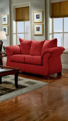 Chelsea Home Furniture 6702RB Verona IV Series Fabric Stationary with Wood Frame Loveseat
