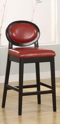 Armen Living LC7015BARED30 Residential Leather Upholstered Bar Stool