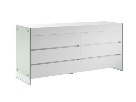 Casabianca CB111DWH Il Vetro Series Wood Dresser