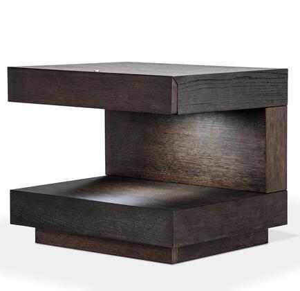 VIG Furniture VGWCC521BOAK Modrest Esso Series Square Wood Night Stand