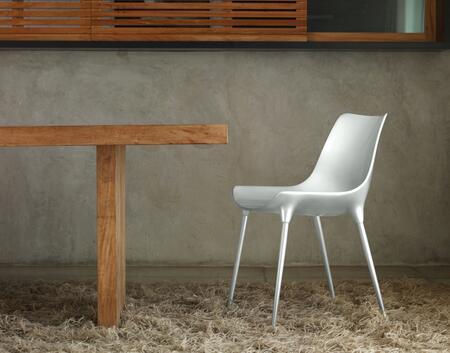 Modloft CDS028ASL6 Langham Series Modern Not Upholstered Metal Frame Dining Room Chair