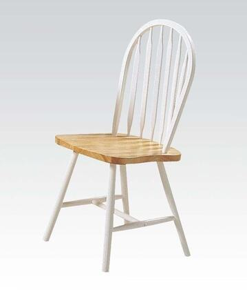 "Acme Furniture Farmhouse Collection 36"" Set f 4 Side Chairs with Spindle Back, Oval Seat, Plain Tapered Legs and Rubberwood Construction in"