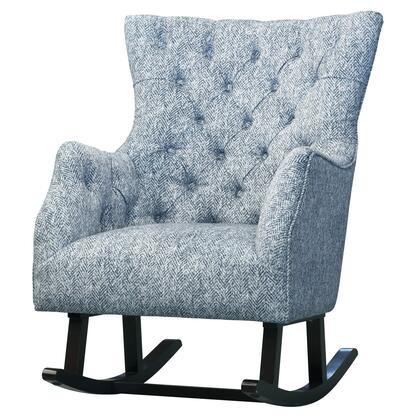 New Pacific Direct Template: Abigail Collection 3900022 Fabric Tufted Rocking Chair in Quiver Indigo Blue