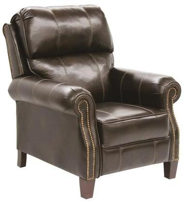 Catnapper 5539121819301819 Frazier Series Bonded Leather Armchair with Metal Frame in Java