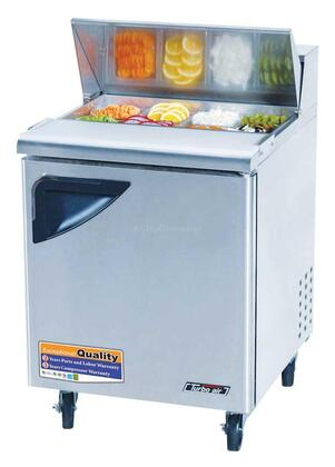 Turbo Air TST Sandwich and Salad Unit with Cold Air Compartment, Convenient Cutting Board Side Rail, Hot Gas Condensate System and Stainless Steel Cabinet Construction