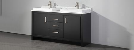 MTD MTDWA6860X Belarus II 60 Double Sink Bathroom Vanity Set