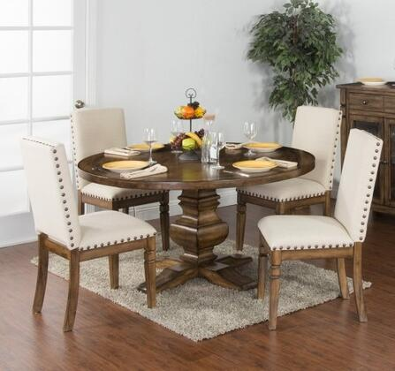 Sunny Designs 1395BMDT4C Cornerstone Dining Room Sets
