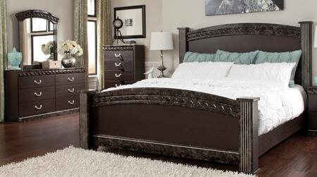 Milo Italia BR387KPSBDMC Carson King Bedroom Sets
