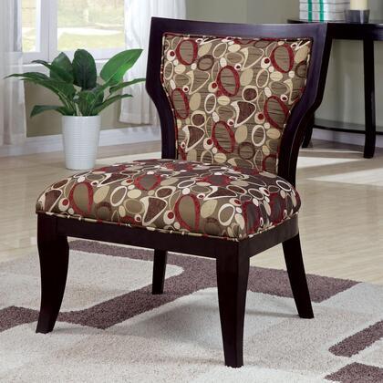 Coaster 902044 Accent Seating Series Fabric Wood Frame Accent Chair