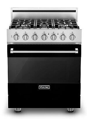 Viking RVDR3305BBK 3 Series Dual Fuel Freestanding Range with Sealed Burner Cooktop, 4.7 cu. ft. Primary Oven Capacity, in Black