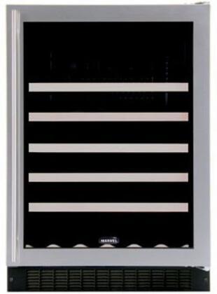 """Marvel 61WCMBBGR 23.875"""" Built In Wine Cooler, in Black Frame Glass Door"""