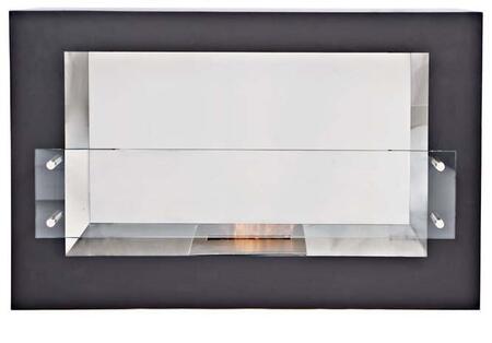 Bio Flame ARGFTGBK Argento Series Vent Free Bioethanol Fireplace