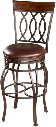 American Heritage 134714PPL322 Bella Series Residential Leather Upholstered Bar Stool