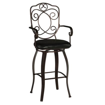 Linon 02787MTL01KDU Commercial or Residential PVC Upholstered Bar Stool