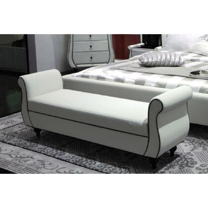 VIG Furniture AUSPICIOUSBEDBENCH Accent  Wood Leather Bench