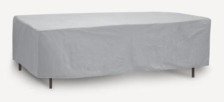 "PCI by Adco 76"" x 48"" x 20"" Oval/Rectangular Table Cover with Water Resistant, Secured Velcro Ties and Heavy Duty Vinyl Fabric in"