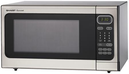 Sharp R408ls Countertop Microwave In Stainless Steel