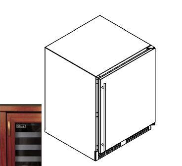 "Perlick HA24WB4R 23.88"" Freestanding Wine Cooler"