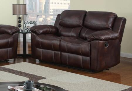 Global Furniture USA U2128L Leather Reclining Loveseat