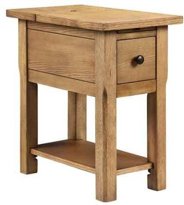 "Stein World Stonebridge 1318X 13"" 1-Drawer Table, Block Feet, Pull Out Tray and Electrical Plugs"