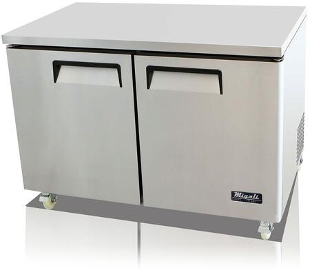 Migali CUXF Competitor Series Undercounter and Work Top Freezer with Stainless Steel Construction, 115 Volts, Digital Controllers, and Forced Air Refrigeration System, in Stainless Steel
