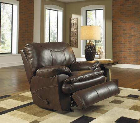 "Catnapper Perez Collection 4140-2- 42"" Power Rocker Recliner with Bonded Leather Upholstery, Luggage Stitching and Pub Back Design in"