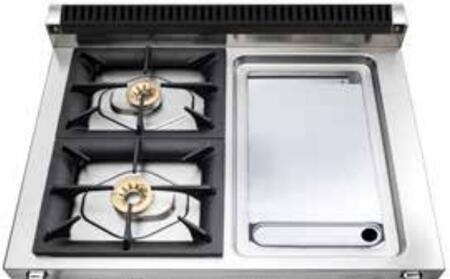 "Viking TVDR360-2G 36"" Tuscany Series Professional Dual Fuel Range with 2 Sealed Burners and a Griddle, Storage Drawer, Electronic Spark Ignition and Porcelain Coated Cast Iron Grates:"