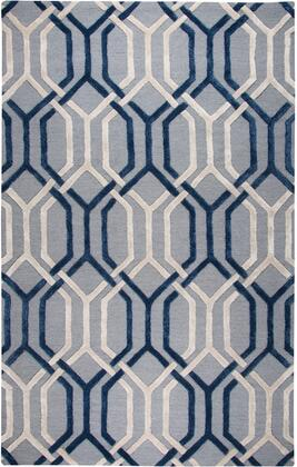 Donny Osmond Home Rugs Collection Rug with 100% Premium Hand Dyed Blended Wool, Hand Crafted in India, Cut and Loop Pile in Grey Color
