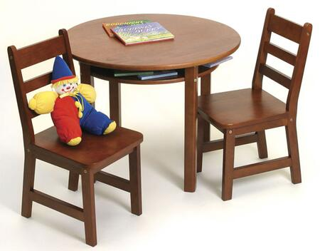 Lipper Kids 524X Lipper Child's Round Table with Shelf and 2 Chairs