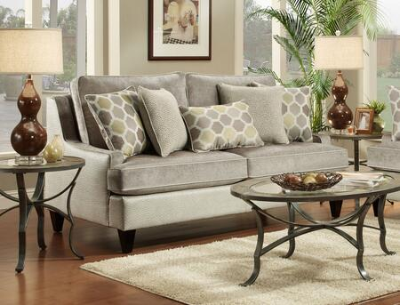 Chelsea Home Furniture 63212803 Catania Sofa with 8.5 Gauge Medium Loop Sinuous Wire, Heat Tempered Coils and White Conjugated Hollow Fill Polyester Fiber Blown Back Cushions