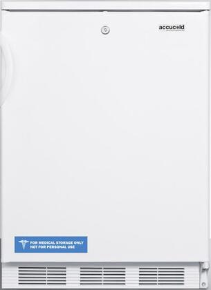 "AccuCold FF6L 24"" FF6 Series Medical Freestanding Compact Refrigerator with 5.5 cu. ft. Capacity, Interior Light, Door Storage, Crisper and Automatic Defrost:"
