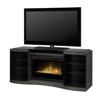 Dimplex GDS33x1246SC Acton Media Console with LED Flame Technology, On/Off Remote, Year-Round Comfort, Supplemental Heat and Contemporary Style in Silver Charcoal