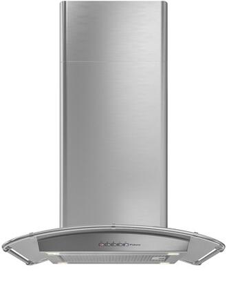 Futuro Futuro ISMOONINOX Moon Inox Island Mount Chimney Style Range Hood with 940 CFM Internal Blower, Halogen Lights, Dishwasher-safe Mesh Filter, and Delay Shut-Off Timer, in Stainless Steel