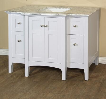"Bellaterra Home 7614 44"" Single Sink Vanity Cabinet Only (Countertop, Backsplash, Mirror and Faucet Not Included) in"