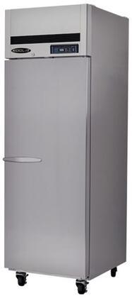 Kool-It KTSRx Doors Refrigerator with Shelves, Doors, cu. ft. Cpaacity, HP, LED Interior Lighting, in Stainless Steel